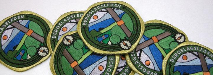 Svenskbroderade brodyrmärken tillverkade 100% lokalt i Solna Sverige