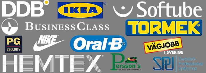 Våra kunder - brodyr, tygmärken och profilkläder