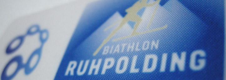 Tryckt Tygmärke Biathlon