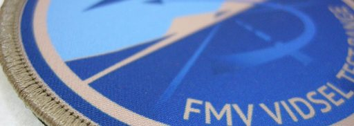 Tryckt Tygmärke FMV Vidsel Test Range