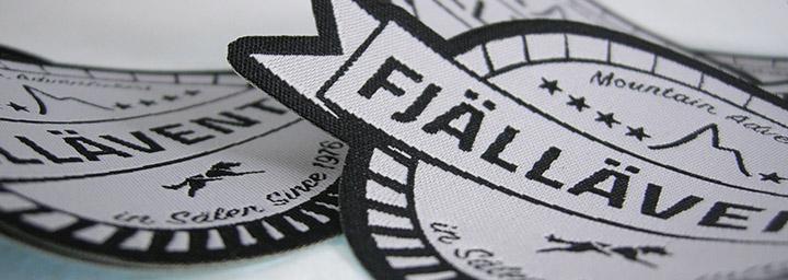 Vävt tygmärke som vi gjorde åt Fjälläventyr.com