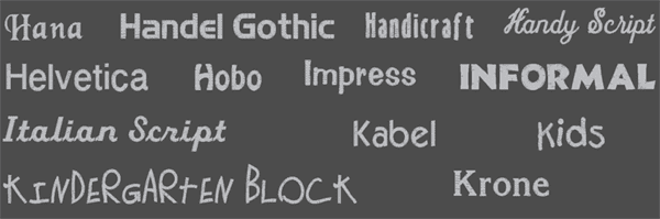 Våra typsnitt för namn och text brodyr 1