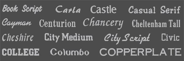 Brodyrhusets typsnitt för namn & text brodyr 2
