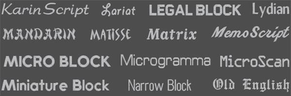 Brodyrhusets typsnitt för namn & text brodyr 5