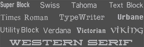 Brodyrhusets typsnitt för namn & text brodyr 7